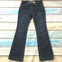 "Gap Womens Jeans size 4 Long Tall Dark Wash Bootcut x34"" insm Cotton Poly Blend"