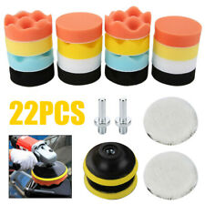 22pz Kit Auto Spugna Lucidatura Tampone trapano Pad Buffing Per lucidatrice Set