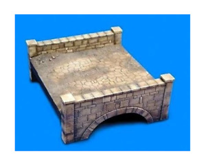 Resin Model Kit 1/35 Miniature Old Brick Stone Bridge Scene Diorama Unpainted
