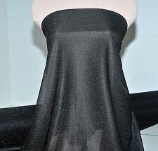 METALLIC STRETCH SEMI SHEER AMERICAN KNIT BLACK/BLACK LAME, DOLL CLOTHING, CRAFT