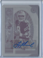 2019 PANINI PLATES & PATCHES 1/1 LEGACY BLACK PLATE AUTO TROY AIKMAN
