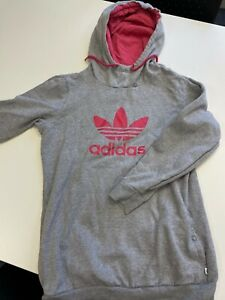 WOMENS GREY AND PINK ADIDAS JUMPER SIZE 16