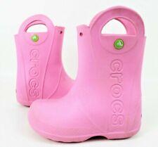 Crocs Kids' Children Handle It Rain Rubber Boot 12803-6I2 Pink Size 12c
