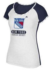 "New York Rangers Women's Adidas NHL ""Skates"" Dual Blend Premium T-shirt"