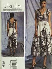New Vogue V1402 Dress Sewing Pattern American Designer Lialia 14 16 18 20 22 FF