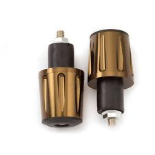 Brown Motorcycle Grip Handle Bar End Plug Weight Slider 22mm 7/8'' CNC Aluminum