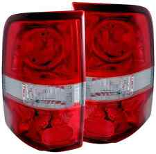 ANZO 211058 Set of 2 Red/Clear LED Style Tail Lights for 2004-2008 Ford F-150