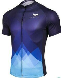 Nine Bull, Cycling Shirt, X Large, Black and BlueXL, ZIP Up, Bike