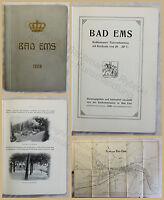 Orig. Prospekt Bad Ems 1908 Rheinland Pfalz Ortskunde Landeskunde Geografie xy