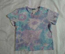 Pink blue white purple t shirt earth girl acrylic