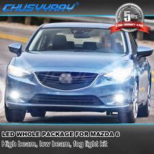 For Mazda 6 2014 2015 2016 2017 Mazda6 LED Headlight Hi/Lo + Fog Light Bulbs 8x
