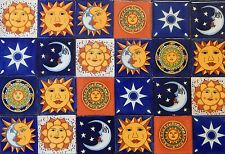 "50 Mexican Talavera Ceramic Tiles 4"" MOON SUN STAR DESIGNS"