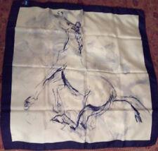 foulard 100% seta cavallo morente RAI TV raro