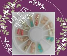 CARRUSEL RUEDA PIEDRAS 3D uñas decoracion NAILS acrilico porcelana acrylic nail