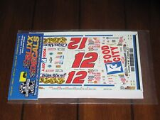 Slixx NASCAR 1544 12 Chips Ahoy Jimmy Spencer Chevy Waterslide Decals 1/24