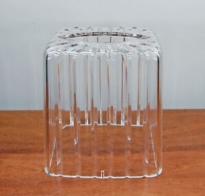 Vintage Clear Plastic Acrylic Lucite Upright Square Tissue Box Holder