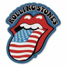 Rolling Stones US Tongue Embroidered Iron on Patch Official Merch