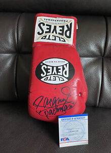 """Manny Pacquiao Signed AUTHENTIC Cleto Reyes Boxing Glove """"Pacman"""" Psa/Dna Coa"""