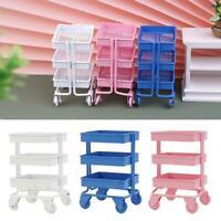 Mini Storage Trolley Dollhouse Miniatures Supermarket Handcart Storage
