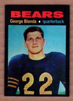 George Blanda '54 Chicago Bears Monarch Corona Glory Days #20 mint cond.