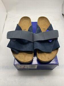 Birkenstock Kyoto Womens Slide Sandal EUR46 US 15Navy Cy514