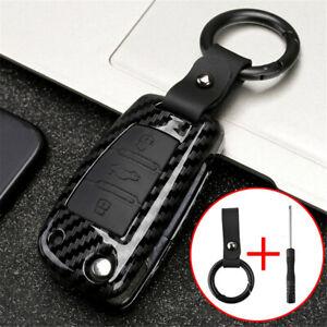 Carbon Fiber Car Key Case Shell For Audi A1 S1 A3 S3 A4 A6 RS6 Q3 Q7 TT