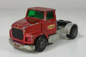 "Vtg Matchbox Superkings Ford LTS Texaco Semi Cab Truck 4"" Diecast Scale Model"