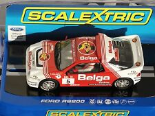 SCALEXTRIC FORD RS200  24HR RALLY D''YPRES 1986  #5 WHITE/RED C3637  1.32  BNIB