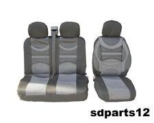 Renault Master Trafic Covers Cover Seats 2+1 Grey-Black Premium Comfort