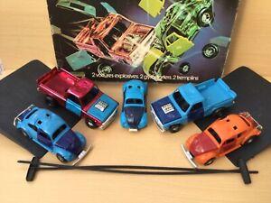 GYROJET LES CASCADEURS coffret complet 5 voitures , 3 COX , 2 PICK UP