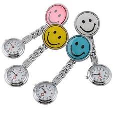 Portable Smile Face Nurse Fob Brooch Pendant Pocket Watch PR CA