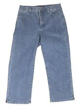Not Your Daughters Womens Mom Jeans Cropped Medium Wash Stretch Relaxed Size 4