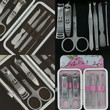 7pcs Pedicure Manicure Stainless Steel Set Nail Care Cuticle Clippers Tool AU