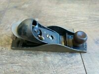 Vintage Stanley Block Plane No. 220 Smooth Made in USA Woodworking Hand Tools