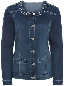 879849 Witt Weiden Damen Jeans Jacke Jeansjacke Größe 46 NEU blue stone washed