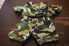 Build A Bear Workshop Green Camo Camouflage Military Army BABW Outfit Clothes