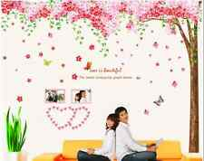 Huge Pink Cherry Blossom Flower Tree Wall Sticker Art Mural Home Decor Decal UK