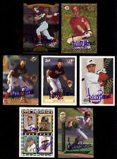 7) AARON BOONE New York Yankees Manager Mixed SIGNED Rookie Card AUTOGRAPH  LOT