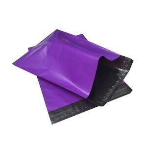 Bolsa de plástico para envío postal 16x23 cm color morado. Polybag.