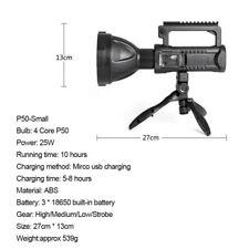 P50 200000LM LED USB Recharge Flashlight Emergency Work Light Spotlight
