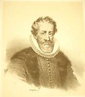Lithografie Von Jean-Baptiste Mauzaisse Nicolas De Neufville Marquis Villeroy