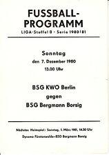 DDR-Liga 80/81 ZEPA Bergmann cruzcampo Berlin-BSG Kwo Berlin 07.12.1980