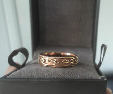 Clogau Welsh 9ct Rose Gold Celtic Eternal Love / Annwyl  Ring  - size M