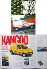 Renault Kangoo Van 1998-98 Original UK Market Brochure
