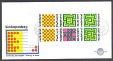 FDC 129a - E129a blok kinderzegels 1973 met open klep