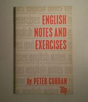 C965 ENGLISH NOTES & EXERCISES BY PETER CURRAN ALLMAN & SON 1964