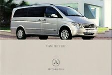 Mercedes-Benz Viano Specification 2004 UK Market Brochure Trend Ambiente