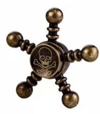 Metal BLACK GOLD BRONZE Pirate Skull Spinner Steel Fidget Steering Wheel  Ball