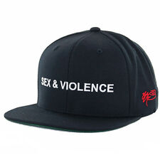 "SSUR Public Enemy ""Sex & Violence"" Snapback Hat (Black) Men's Classic Cap"