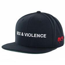 """SSUR Public Enemy """"Sex & Violence"""" Snapback Hat (Black) Men's Classic Cap"""